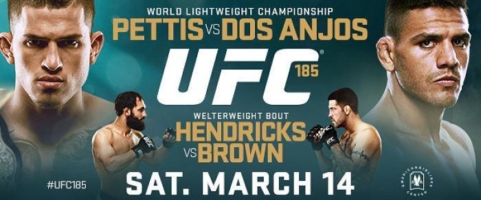 ufc 185: pettis vs dos anjos fight card