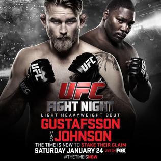 Gustafsson vs Johnson Fight Video Highlights