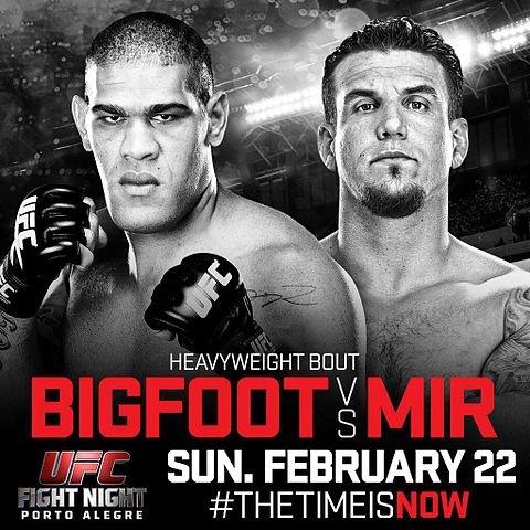 ufc fight night: bigfoot vs mir fight card