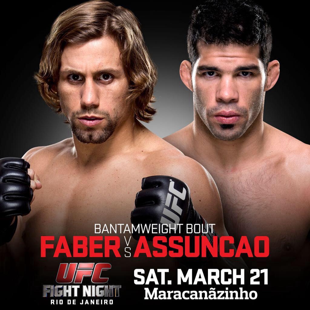 ufc fight night: faber vs assuncao fight card