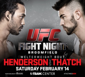 henderson vs thatch fight card