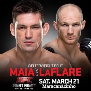 maia vs laflare fight card