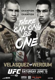 ufc 188: velasquez vs werdum fight card