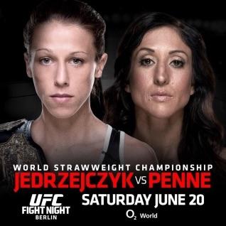 ufc fight night: jedrzejczyk vs penne fight card