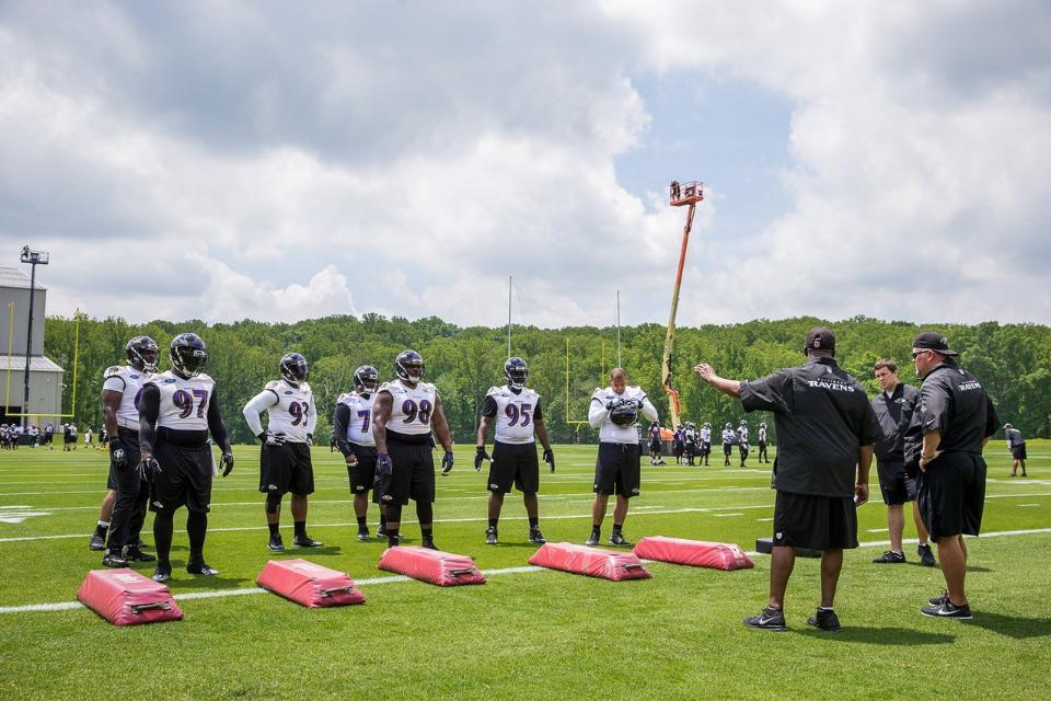 Ravens carry on with OTA drills despite criticism