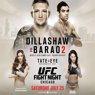 UFC on Fox: Dillashaw vs Barao 2 Fight Card
