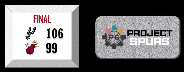 Project Spurs Vidcast: Spurs 106, Heat 99