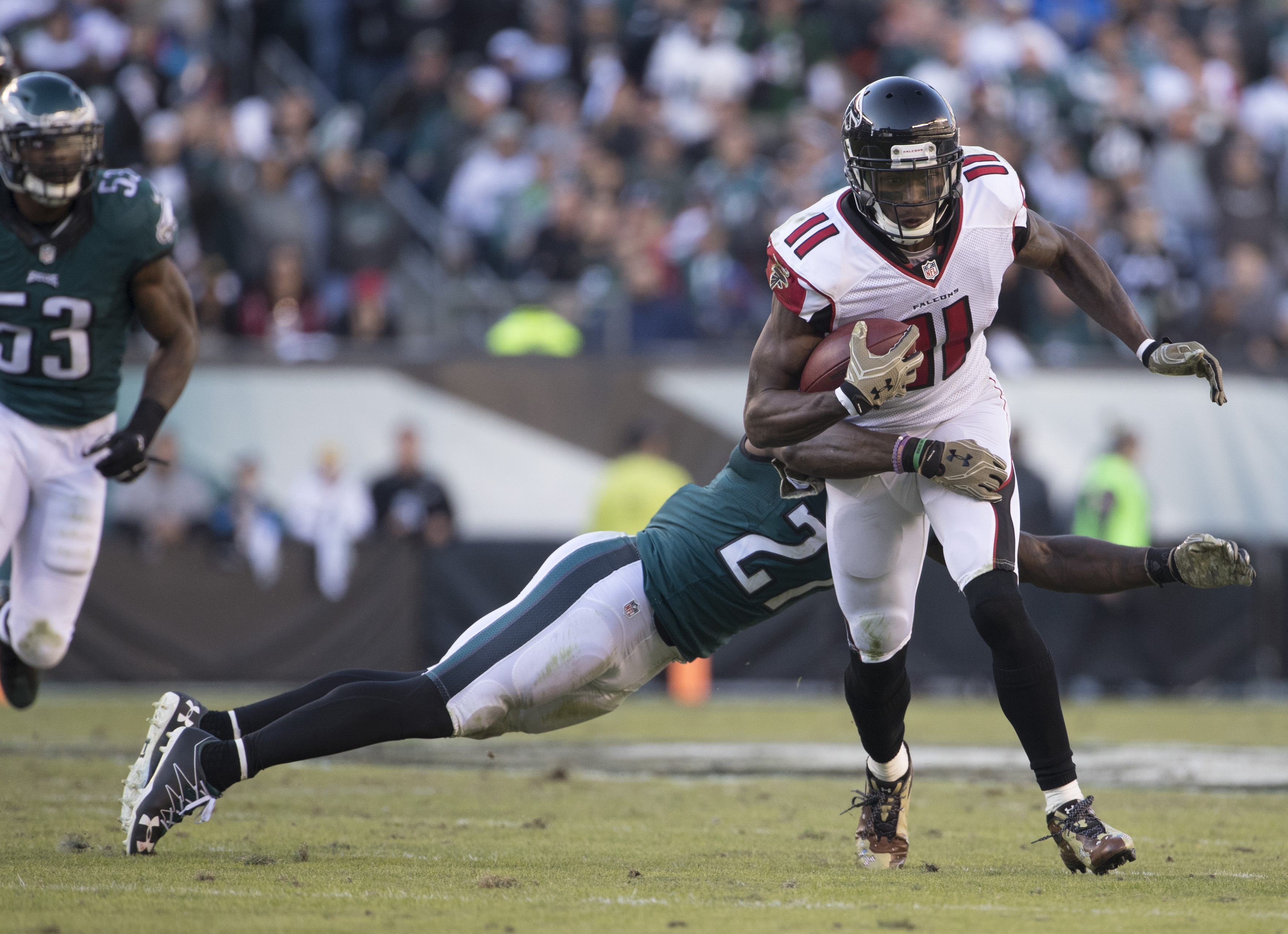 Leodis McKelvin says the Falcons are a front-running team