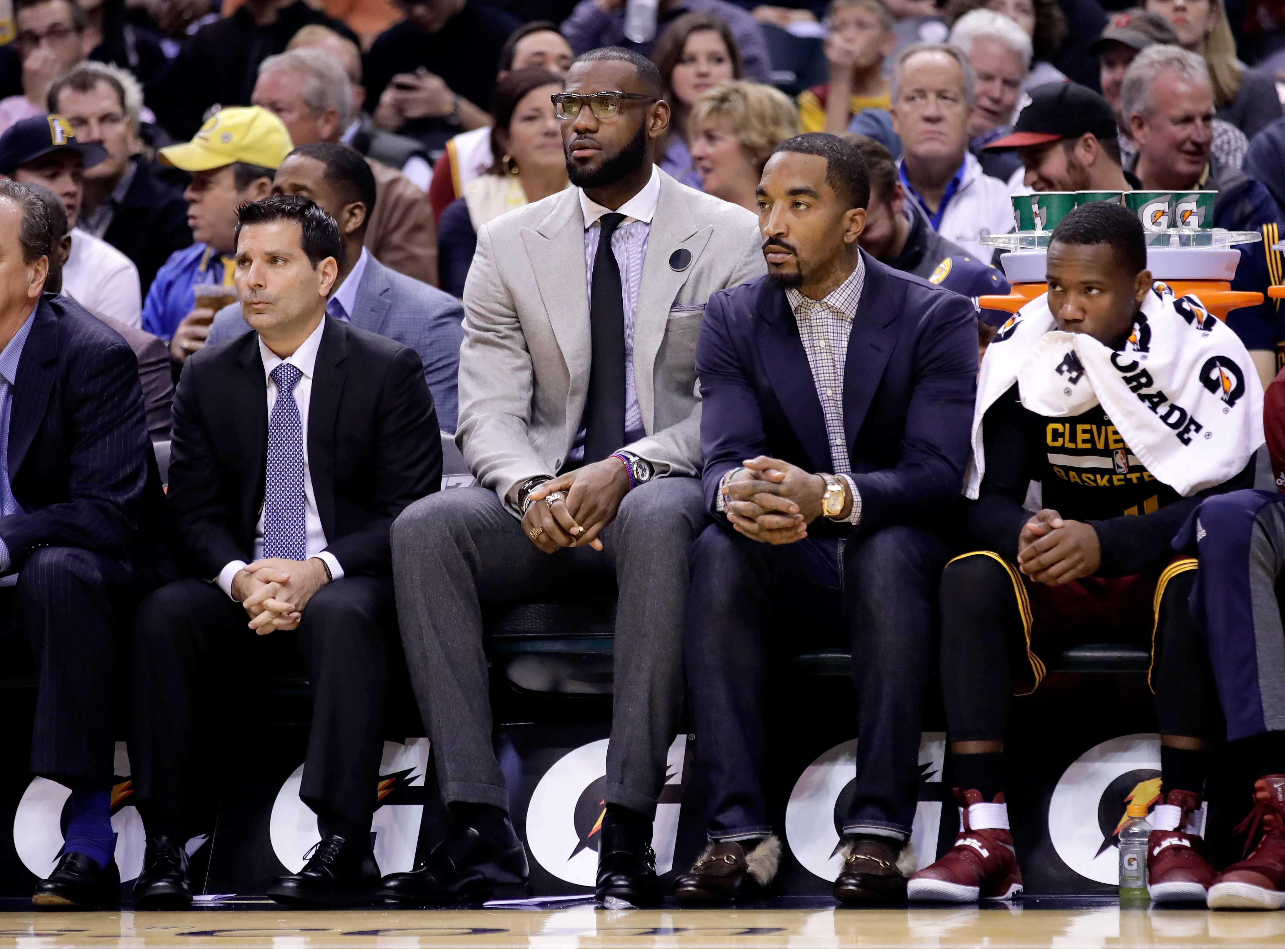 LeBron and JR Sit as Cavs Fall to Pacers