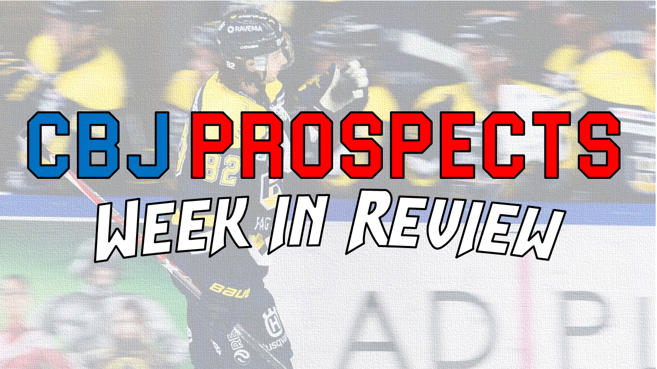 Oct 24-30 CBJ Prospect Week in Review