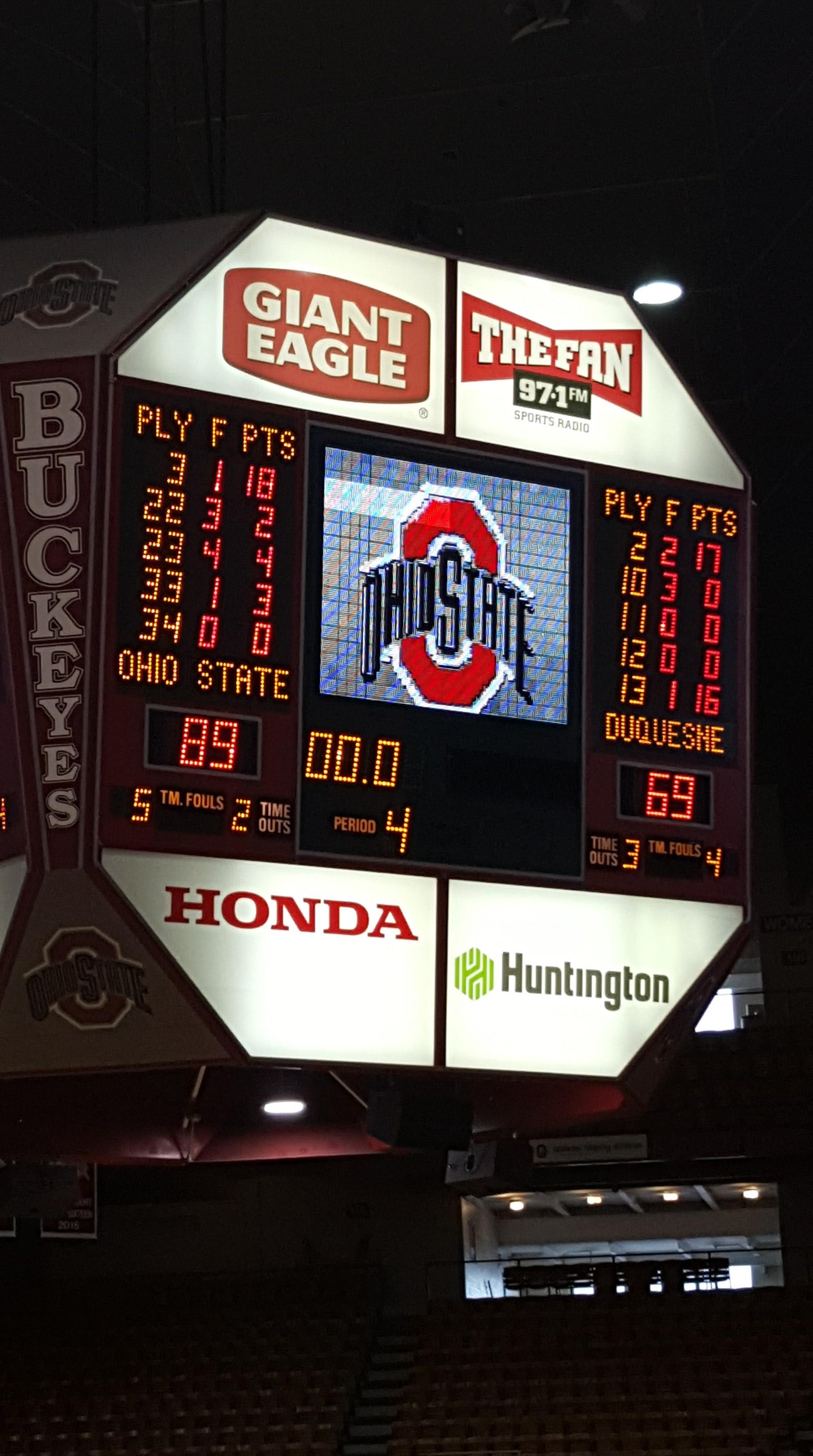 #6 Ohio State Women down Duquesne 89-69