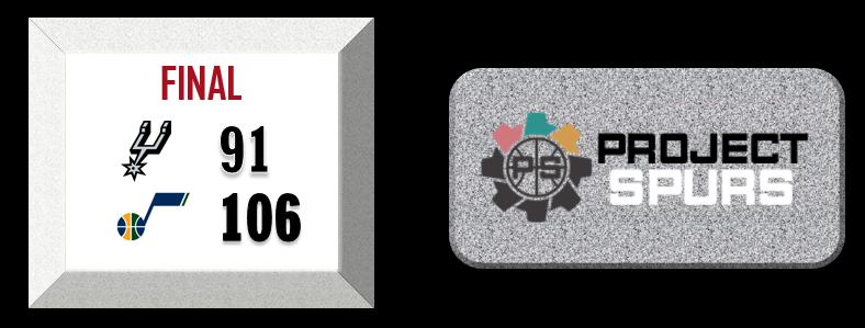 Project Spurs Vidcast: Spurs 91, Jazz 106