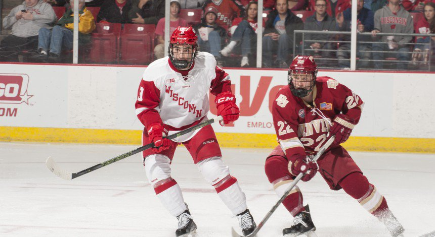 Badgers Hockey Hoping to Ride Healthy Trent Frederic to Second Half Success