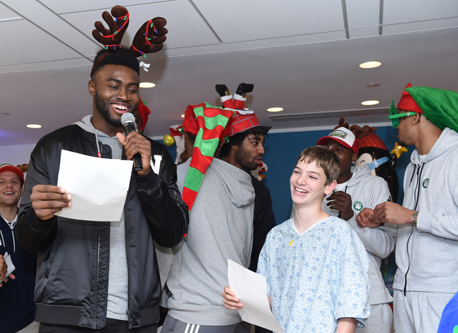 Jaylen Brown ain't afraid to belt out a Christmas carol