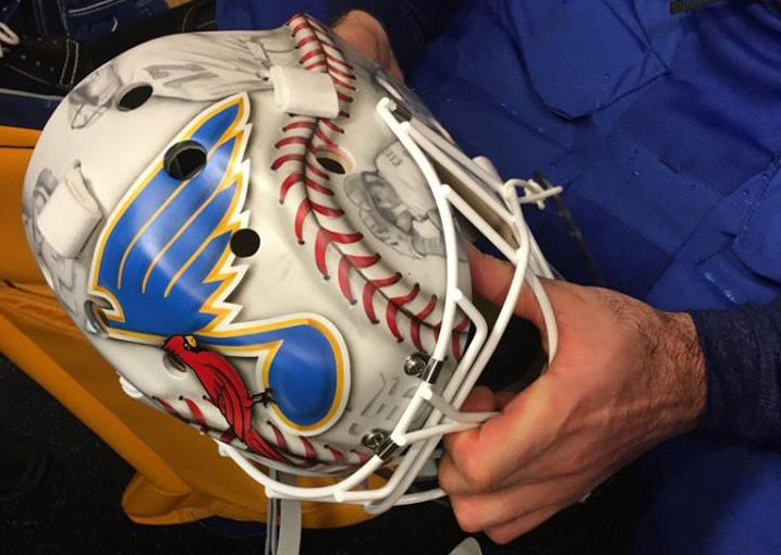 Carter Hutton's Winter Classic mask is pretty outstanding