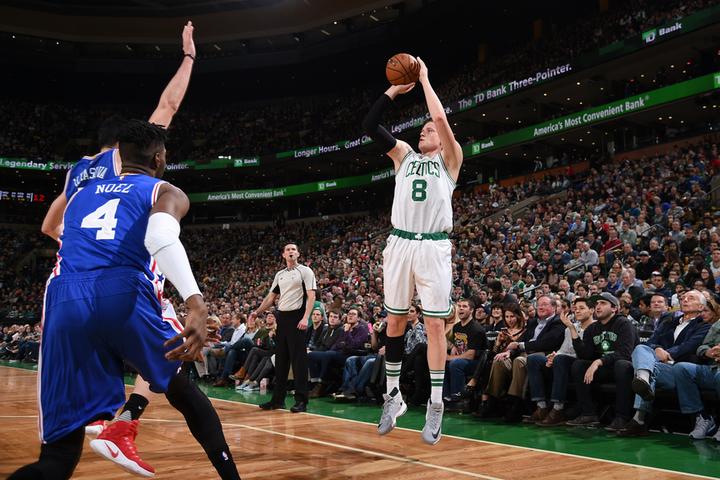 Celtics' Streaky Shooting Helps Survive Sixers