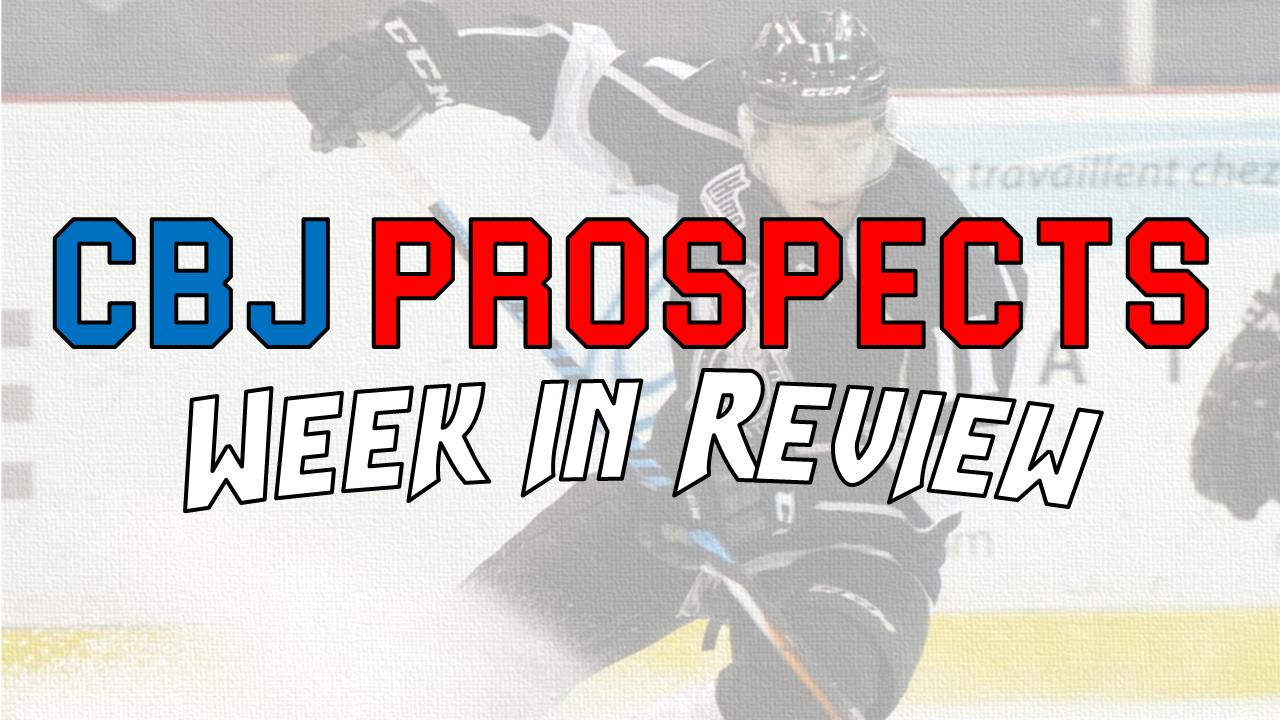 Mar 21-26: AHL / USHL / NCAA CBJ Prospects Week in Review