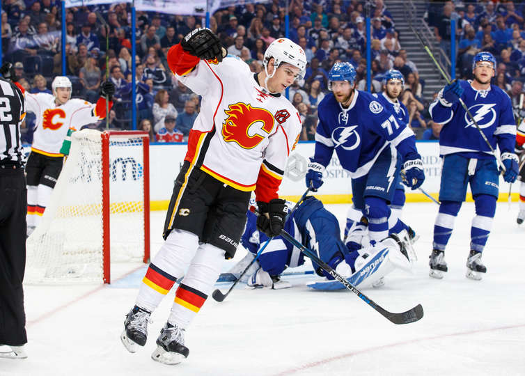 Sean Monahan looking for an Edge
