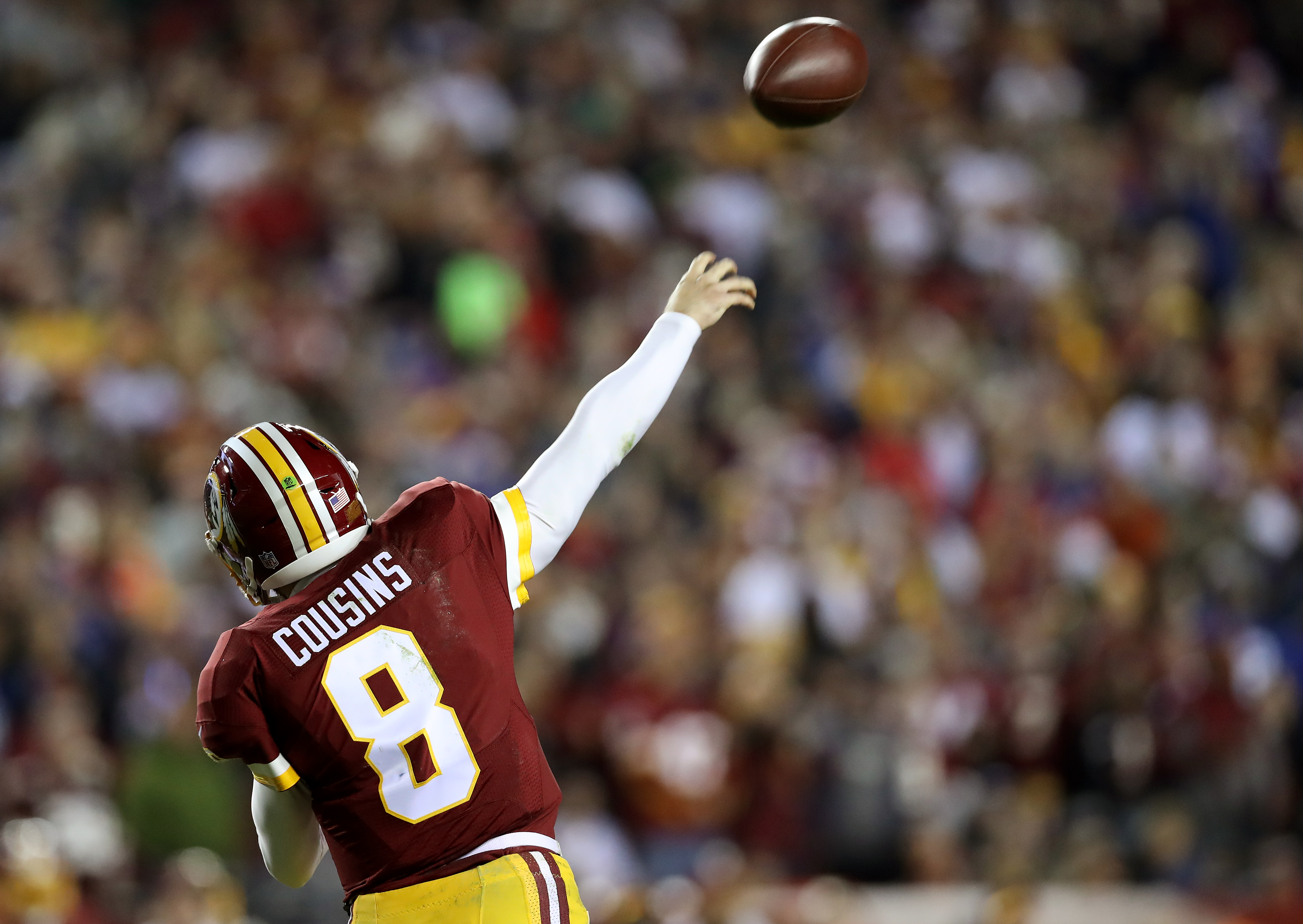 Redskins Kirk Cousins not playing out of his mind, but is playing above his Draft position.