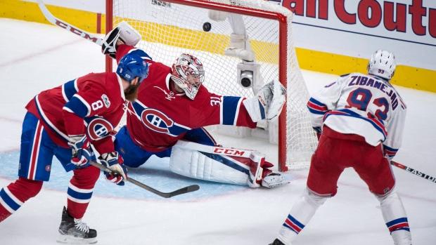 Rangers 3, Canadiens 2, OT (NYR 3-2)