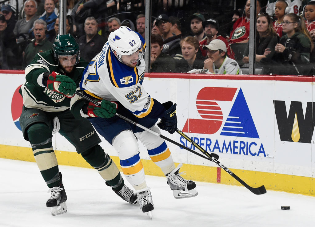 Perron cites the return of Sobotka as one of the reasons his game slipped
