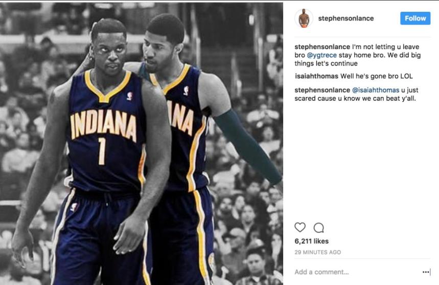 Isaiah Thomas isn't taking any prisoners on Instagram