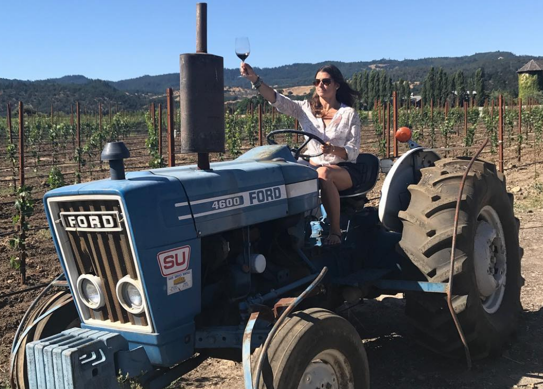 Danica Patrick hits up wine country, drinks on a tractor (PHOTOS)