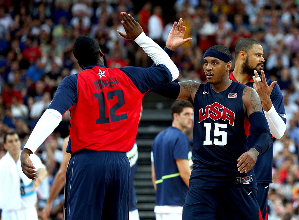 James Harden Praises Carmelo Anthony, Says He Could Help Rockets