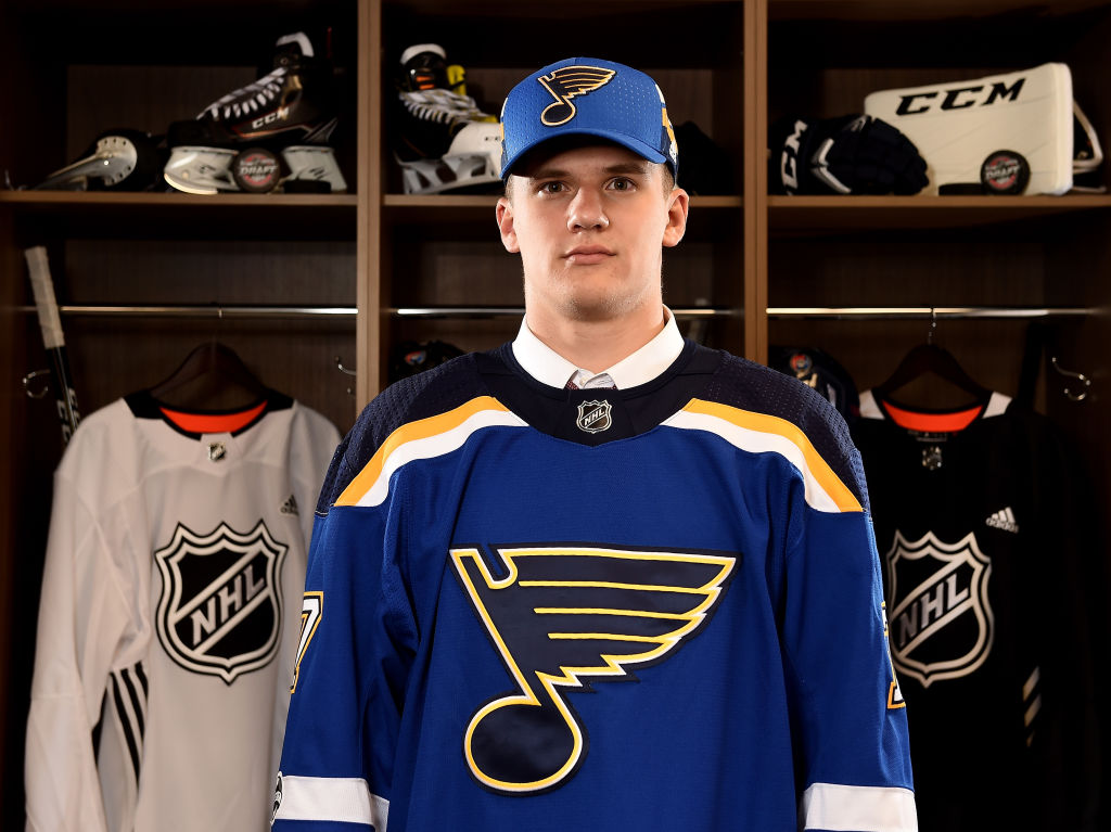 Klim Kostin signs three-year, entry-level deal with the Blues