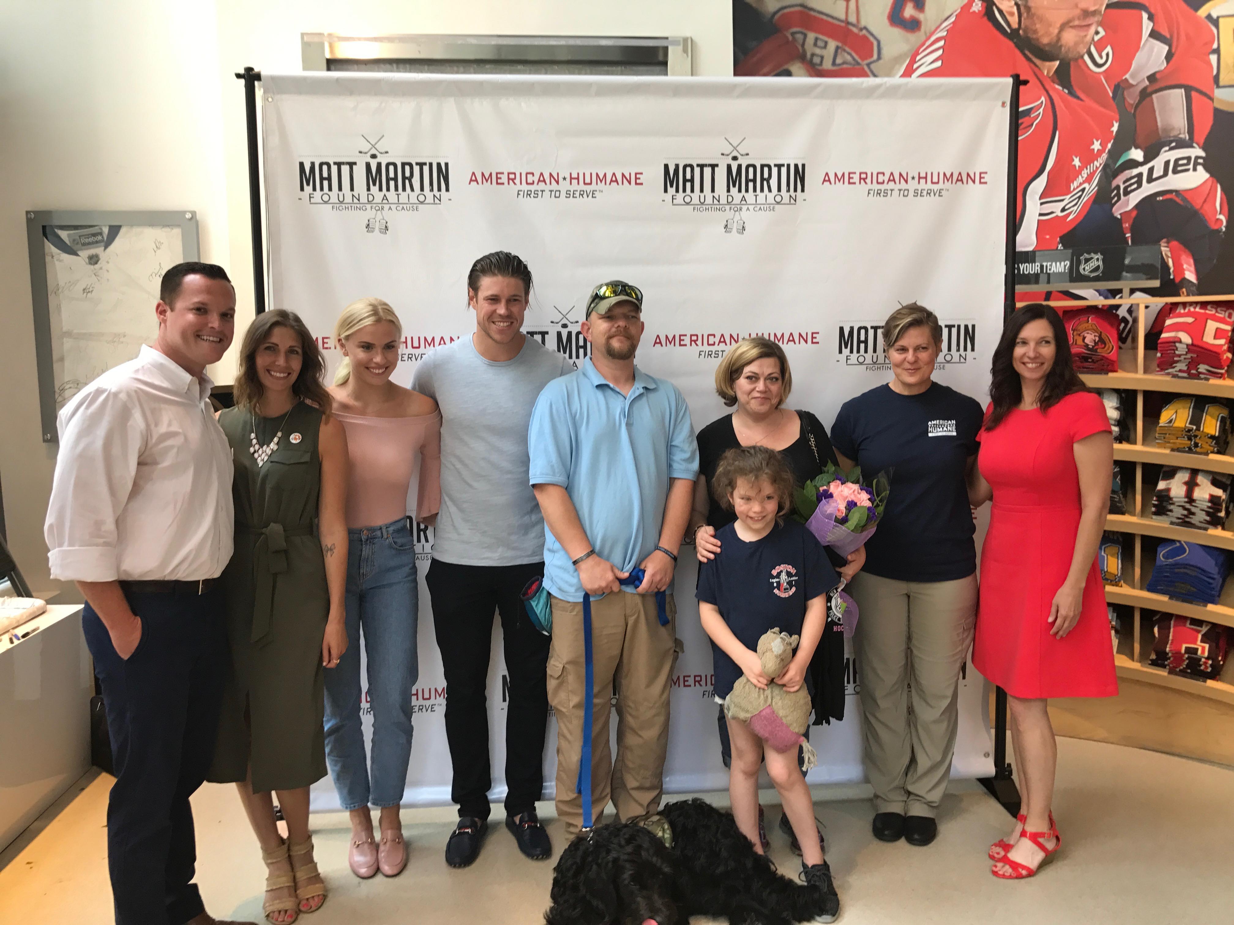 Matt Martin Overwhelms Military Family at NHL Store