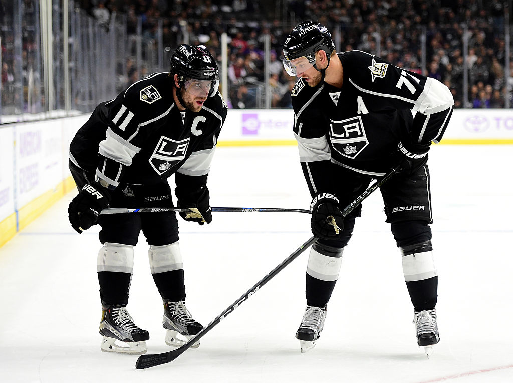 Anze Kopitar and Jeff Carter named to the Top 20 centers in the NHL right now