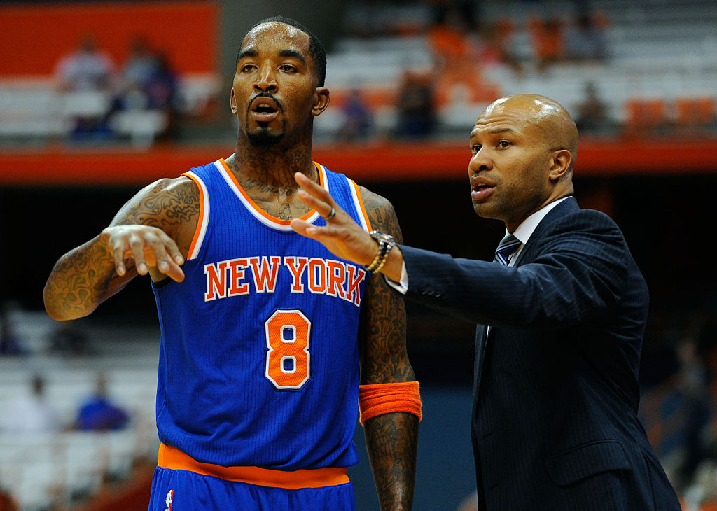 Derek Fisher says there was no alignment with Knicks, talks triangle offense