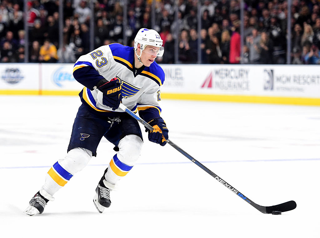 The potential opening night lineup for the Blues is depressing