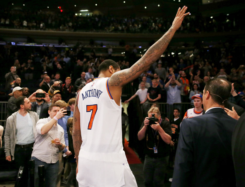 Knicks Pay Tribute To Carmelo Anthony With Social Media Post