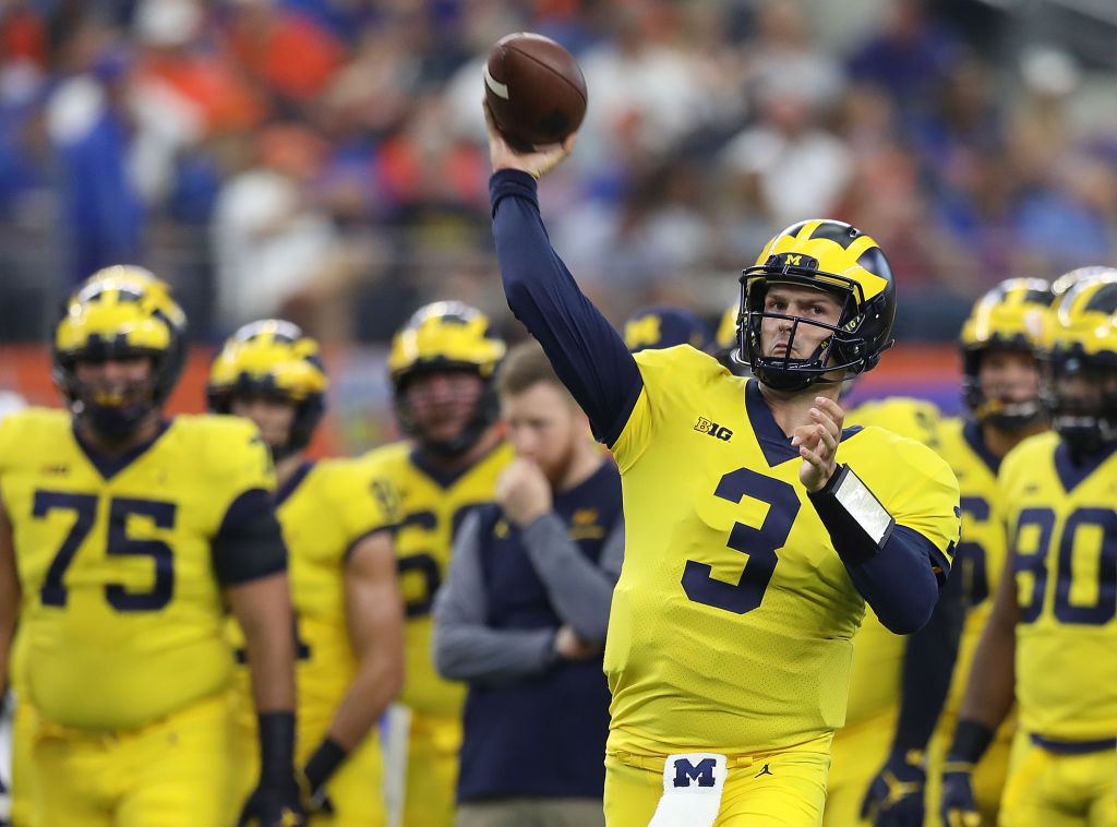 WATCH: Michigan QB Wilton Speight Pulled After Back to Back Pick 6's