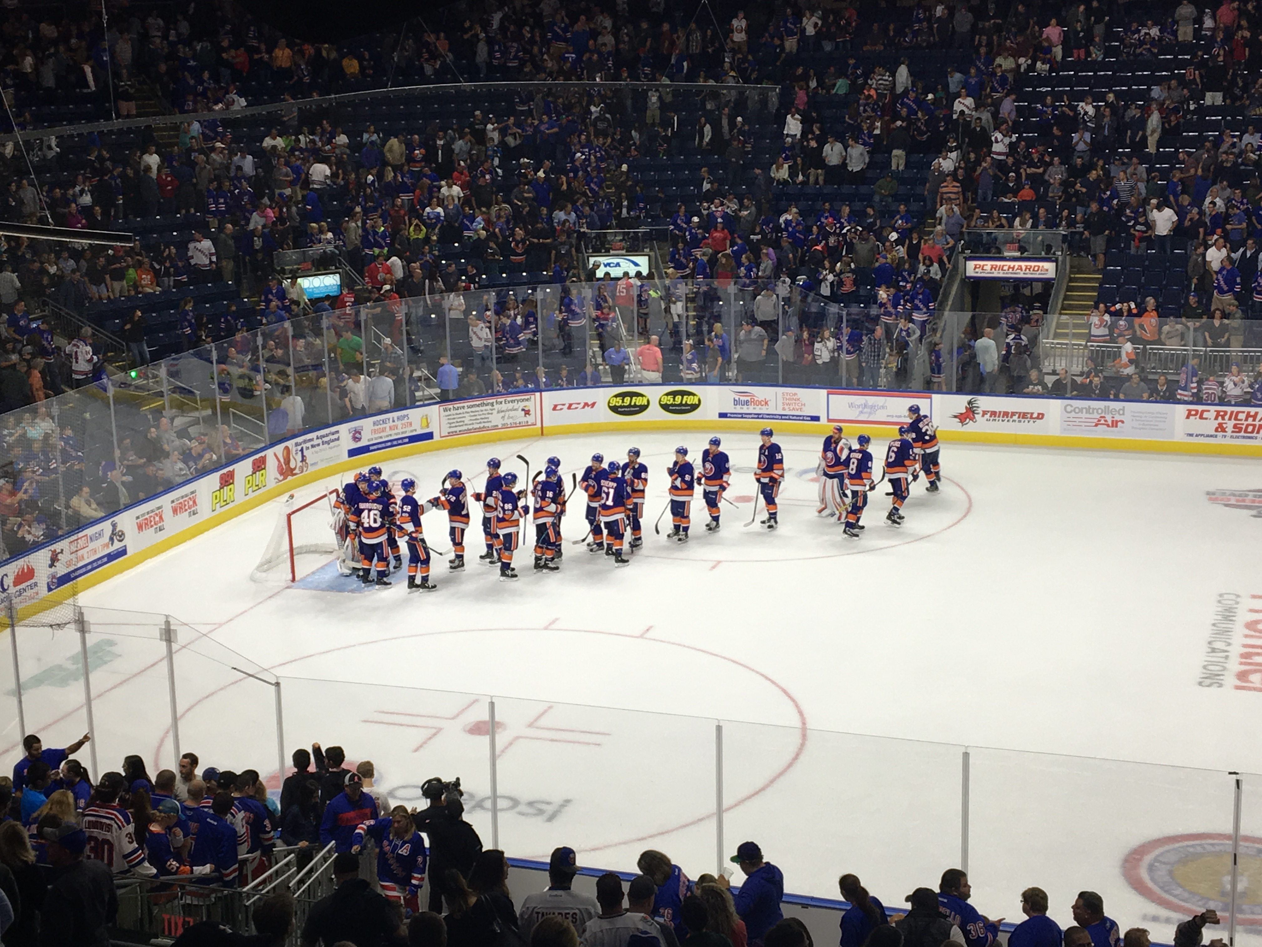 The Islanders defeat the New York Rangers, 2-1, in Bridgeport, CT.