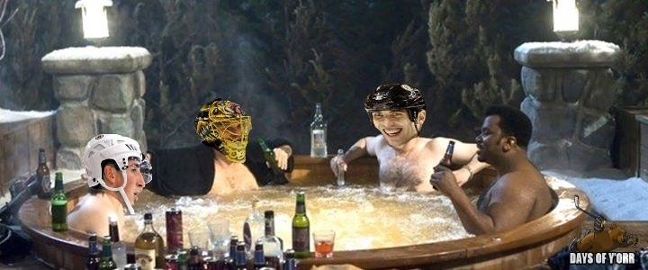 Hot Tub Charmachine. BRUINS WIN.