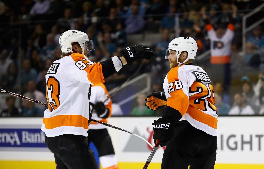 Flyers beat Sharks 5-3 in season opener