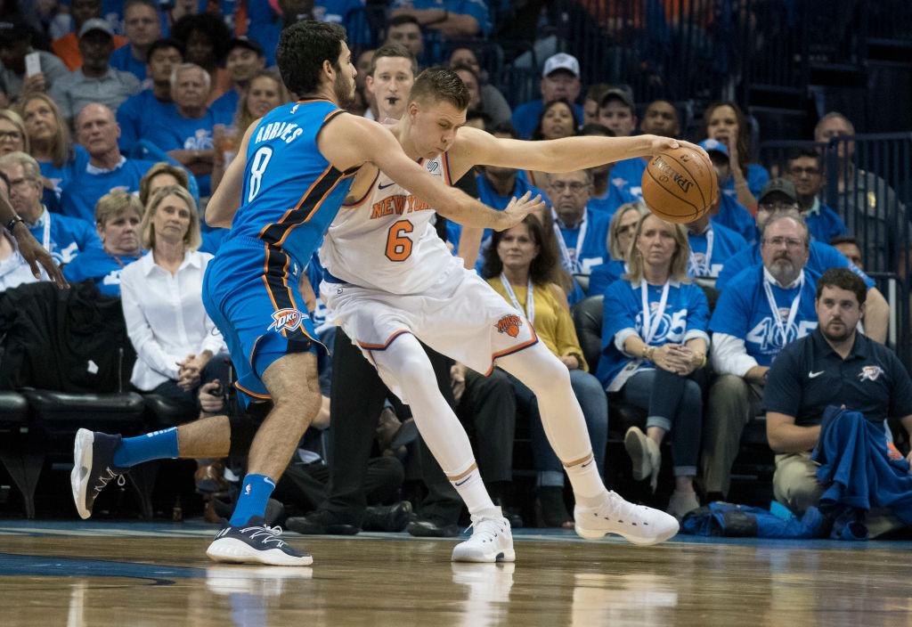 Kristaps Porzingis shut down late as Knicks lose to Detroit