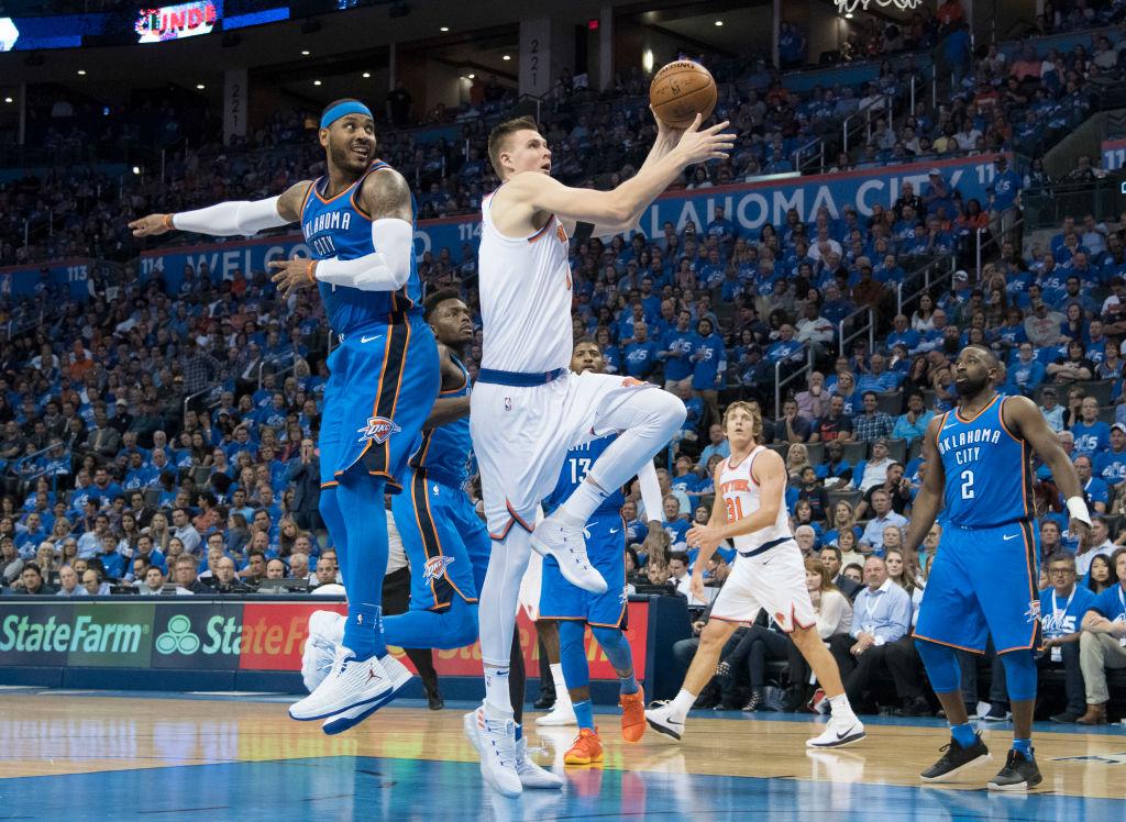 Kristaps Porzingis Receives Little Help In Knicks' Opening Loss To OKC