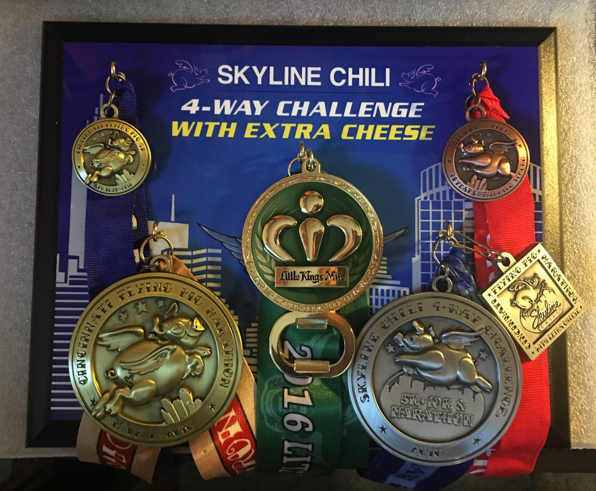 My next big running goal -- the 4-Way Challenge With Extra Cheese at the Flying Pig Marathon!