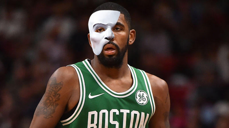 Your Morning Dump... Where it's Kyrie Irving in a Phantom of the Opera mask because, why not?