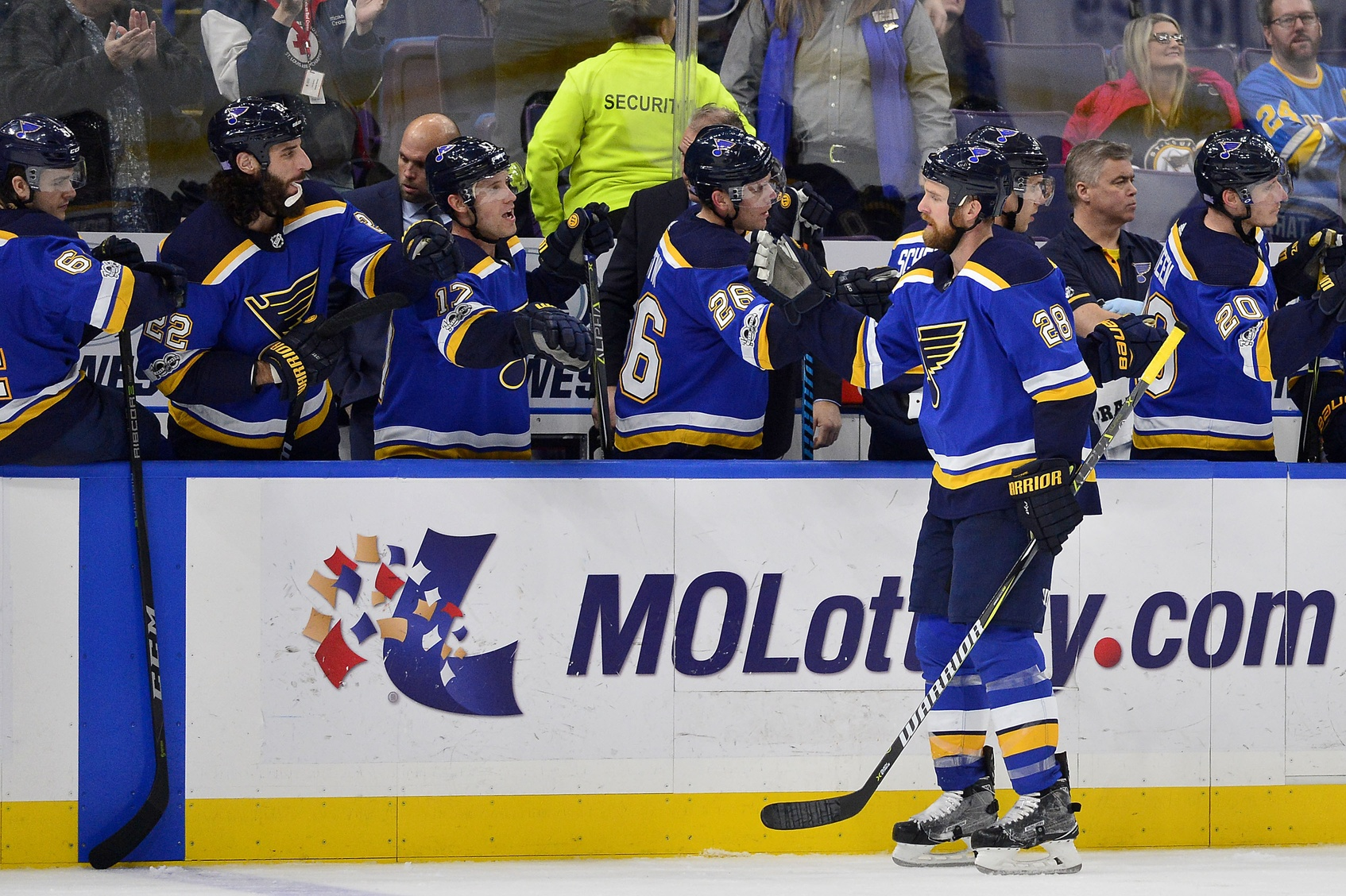 The Blues are planning to use a revolving lineup