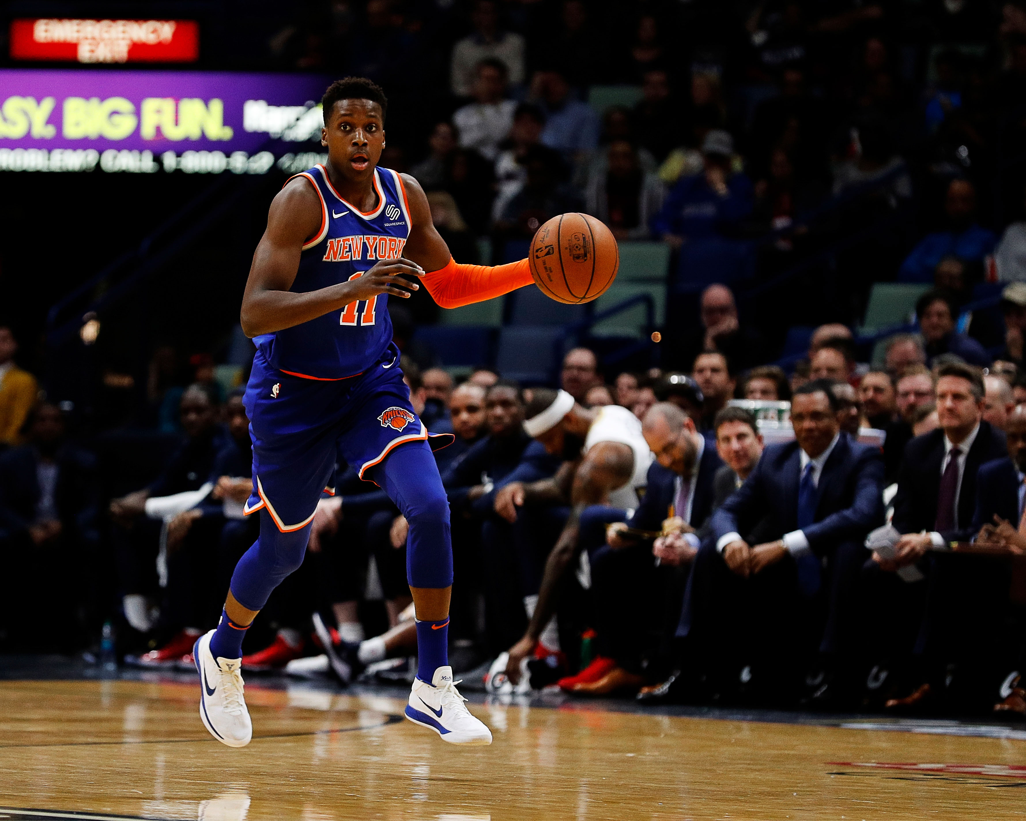 Frank Ntilikina and Michael Beasley Boost Knicks Over Nets