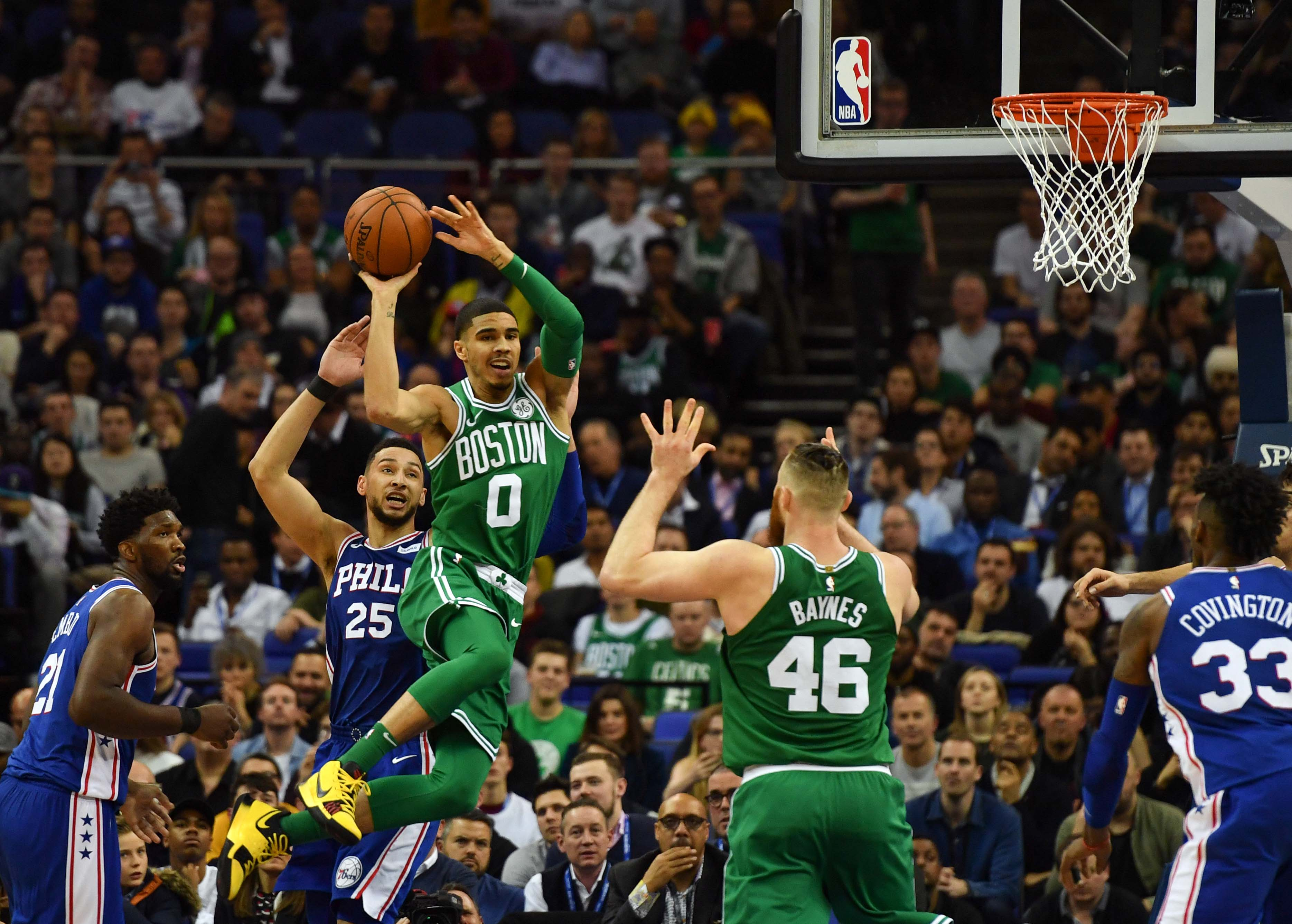 Epic 22 Point London Comeback Fuels Boston Victory Over Philly 114-103