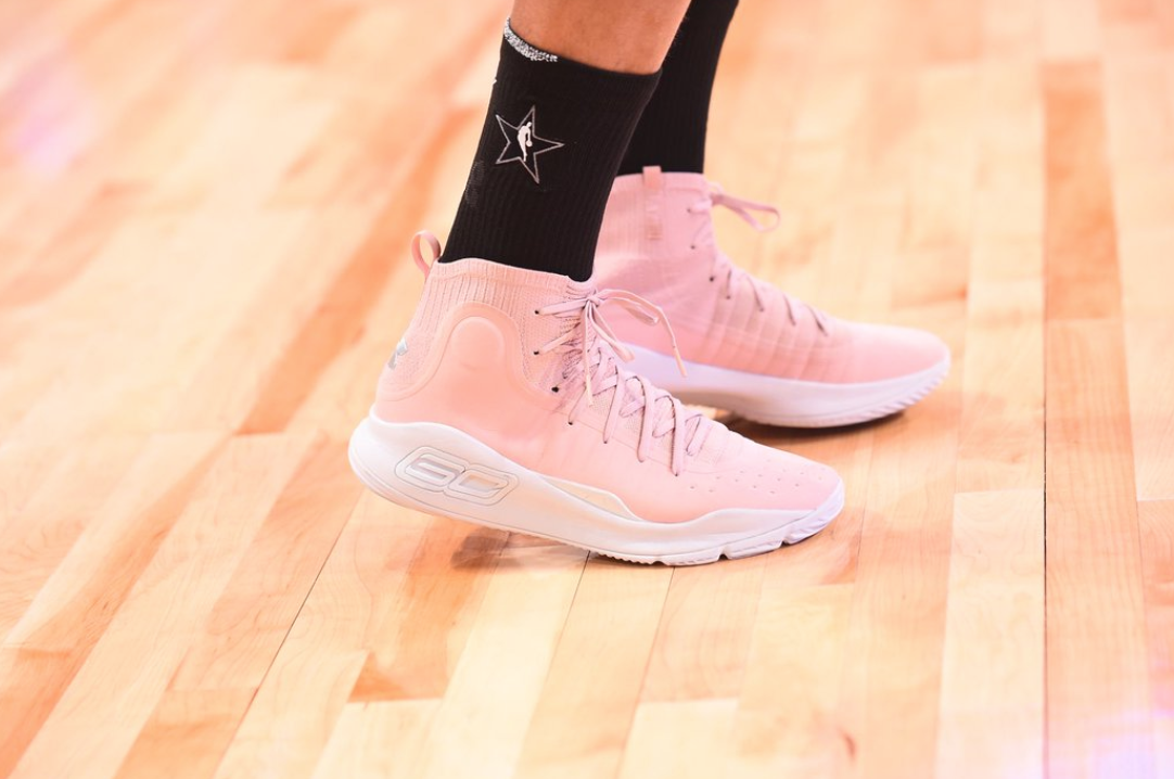 Stephen Curry shows off new Under