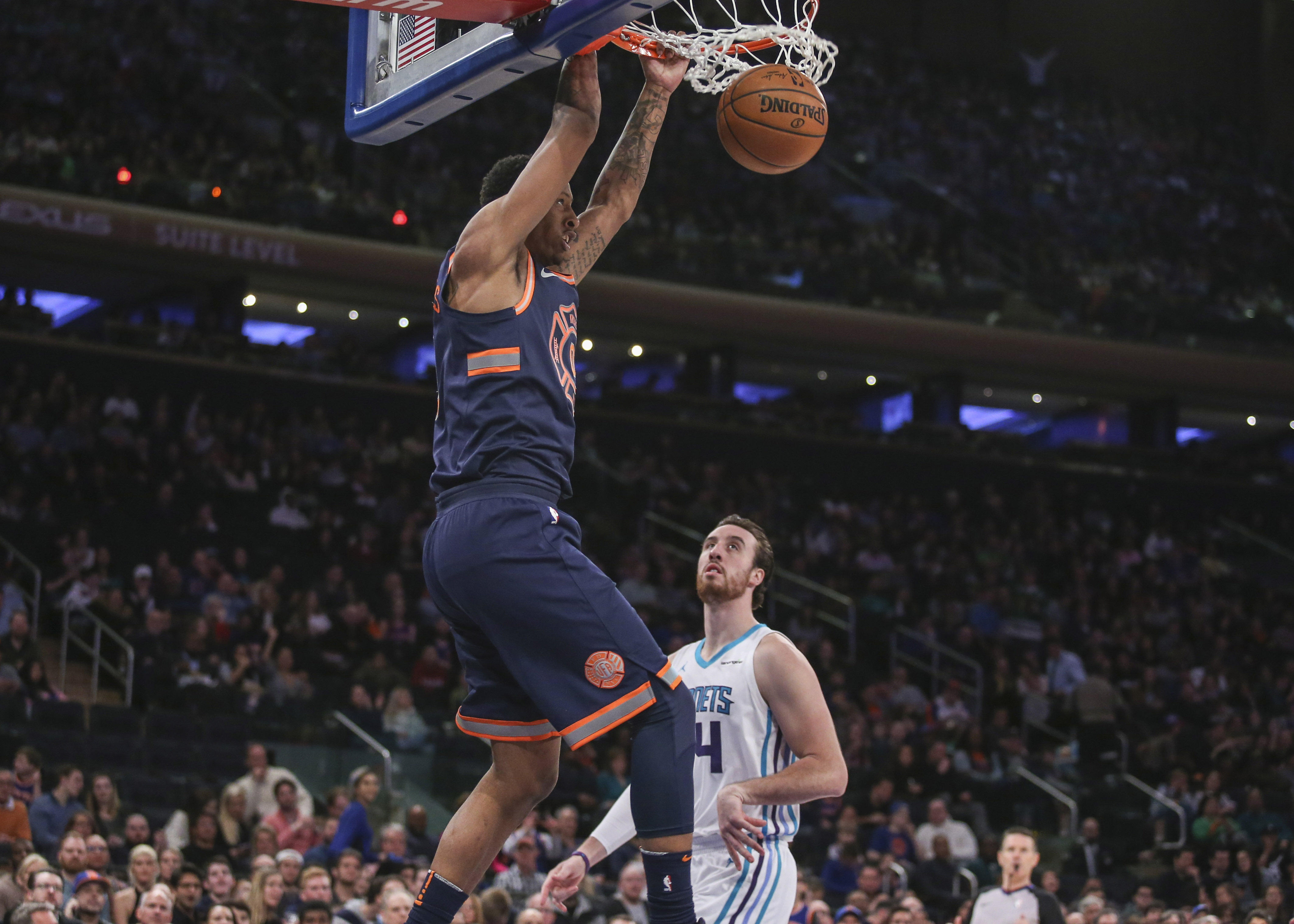 Knicks Get Lucky Win Over Hornets On St. Patrick's Day