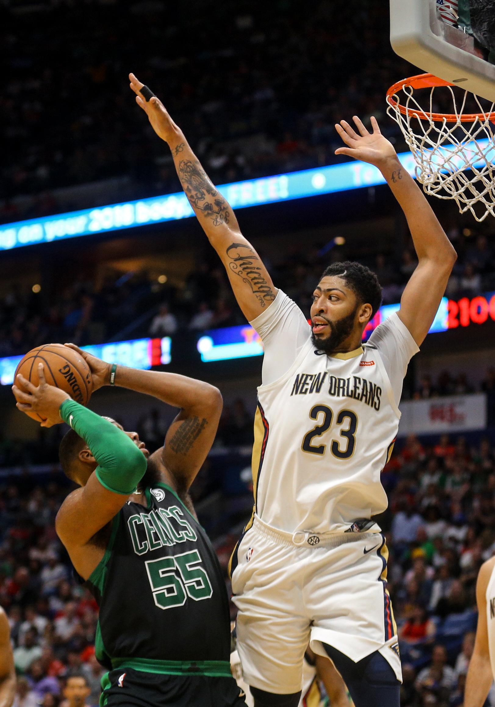AD & Pels Beat Injury Plagued Celtics 108-98