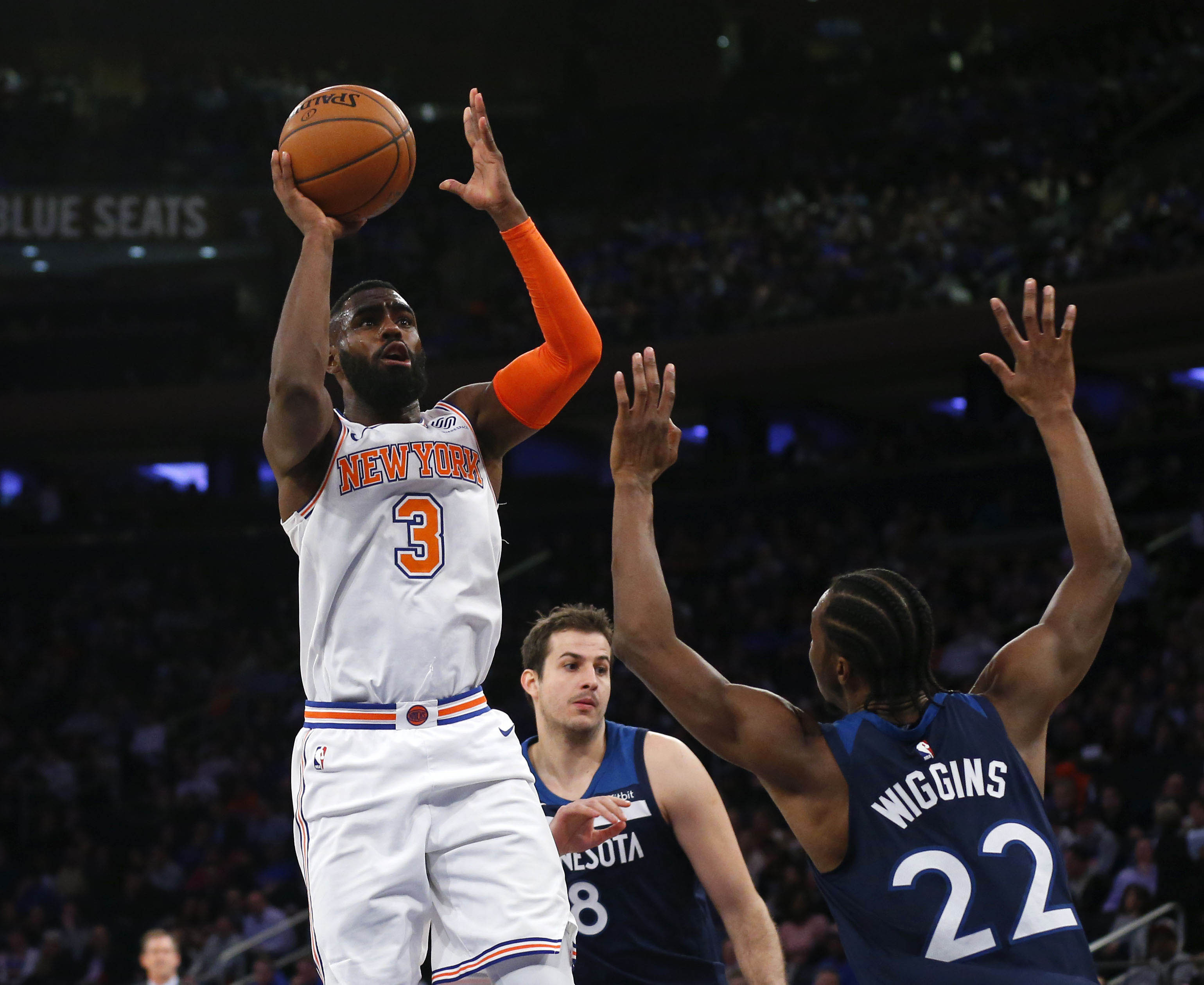 WATCH: Knicks' Tim Hardaway Jr. already hard at work with offseason training