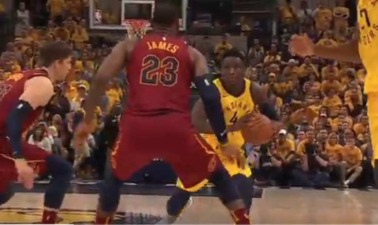 Victor Oladipo nutmegs LeBron James with sick pass